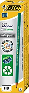 Bic Ecolutions Evolution 650HB Pencil (Pack of 12)-Green