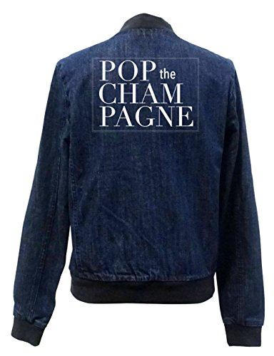 Pop The Champagne Jeans Bomberjacke Certified Freak-L