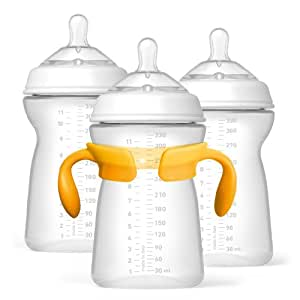 Chicco NaturalFit Tri-Pack Bottles, 6 Months Plus