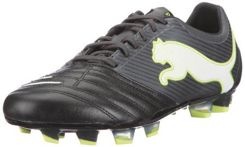 Puma Herren PowerCat 2.12 FG Sportschuhe-Fußball, Schwarz (Black-Dark Shadow-White-Lime Punch 02), 42.5 EU -