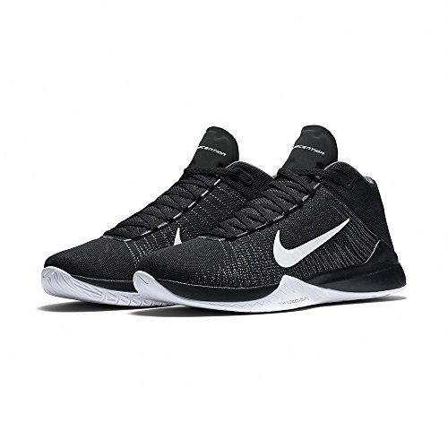 Nike Herren Zoom Ascention Basketball Turnschuhe, Black (Schwarz / Weiß-Anthrazit-Drk Gry), 41 EU
