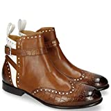 MELVIN & HAMILTON MH HAND MADE SHOES OF CLASS Sally 60 Crock Mid Brown Patent White-39