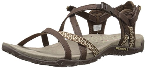 Merrell TERRAN LATTICE II, Damen Sandalen, Braun (Dark Earth), 42 EU (9 UK)
