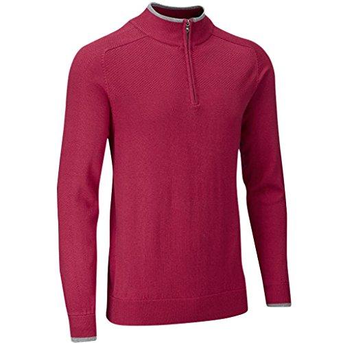 Stuburt Golf 2017 Mens Vapour Casual Thermal Half Zip Neck Sweater Berry Small (Zip Golf Half Sweater)