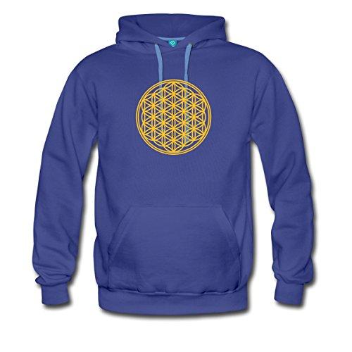 blume-des-lebens-flower-of-life-fleur-de-vie-manner-premium-hoodie-von-spreadshirtr-xl-konigsblau