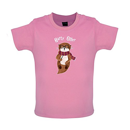 Harry Otter - Witziges Baby T-Shirt - Bubble-Gum-Pink - 18 bis 24 Monate