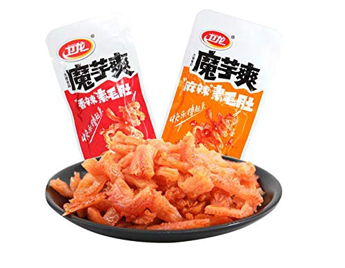 Weilong Latiao,Chanmoyu,Moyushuang,Chinese Special Snack Food: 馋魔芋 魔芋爽Wei  Long Series Spicy Gluten(MoYu-Hot&Spicy, 10 Inner Pack)