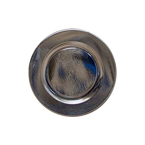 4 SOUS-ASSIETTES CARTON SOLEIL ARGENT 32 CM