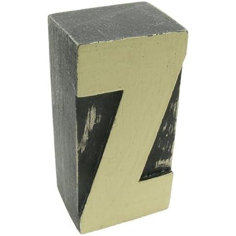 Con lettere dell'alfabeto in legno con dipinto a mano singola lettera Z