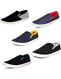 SCATCHITE Pack of 5 Footwear (Loafers & Moccasins & Sneakers & Casual Shoes)
