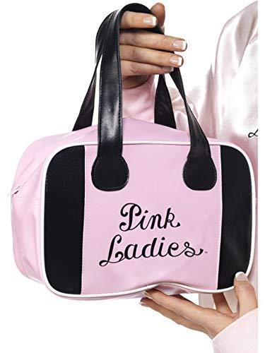 Fancy Ole - Kostüm Accessoires Zubehör Damen Frauen Grease Pink Ladies Handtasche Bowling Tasche, perfekt für Karneval, Fasching und Fastnacht, Rosa (Ladies-kostüm Grease Pink)
