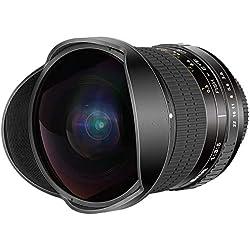 Neewer 8mm F/3,5 Objectif Fisheye Rectangle Ultra Grand Angle Fisheye Lentilles pour APS-C DSLR Nikon D500 D3200 D3300 D3400 D5200 D5300 D5500 D5600 D7100 D7200 D7500 DSLR Appareils Photo