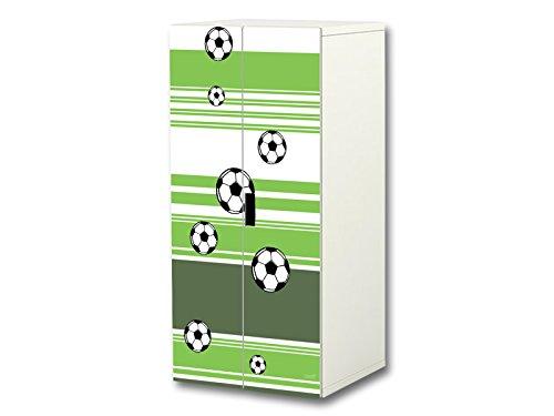 Fútbol pegatinas | SC32 | Adecuadas para el armario de niños STUVA de IKEA (corpus: 60 x 128cm) | (mueble no incluido) STIKKIPIX