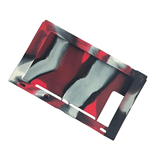 Segolike Rubber Case Cover Wrap Covering For Nintendo Switch Game Console Camouflage red