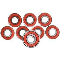 NO LOGO X-Baofu, 10 Stücke 608 ABEC-11 Kein lärm Ölgeschmierte Glatte Skate Roller Lager Longboard Geschwindigkeit Inline Skate radlager Skateboards (Farbe : Rot)