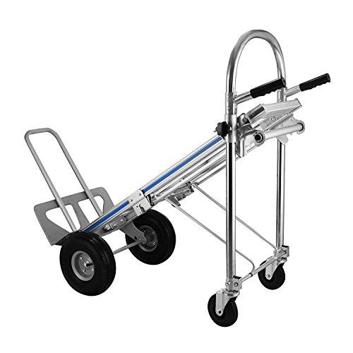 ZauberLu 500KG Sackkarren 3 IN 1 Aluminium Treppenrutsche Klappbar Transportkarre Mit Kunststoff Rädern Stapelkarre(500KG 3 IN 1)