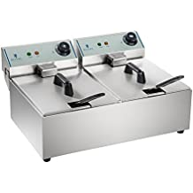 Royal Catering Freidora Doble Industrial Eléctrica Profesional RCEF-10DY-ECO (2 x 10