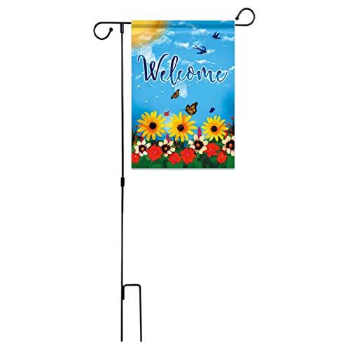 dadago display da 45 x 15 mini bandiere da giardino in ferro supporto per palo supporto per decorazioni da cortile
