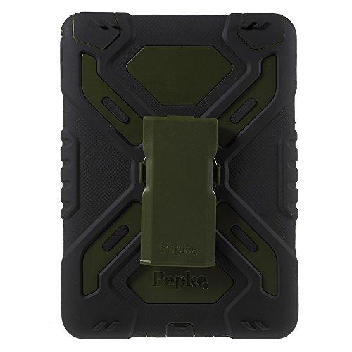 Apple iPad Air 2 PEPKOO Outdoor Case Spider Series Silikon Heavy Schwarz Grün (Skelett, Hände, Gürtel)
