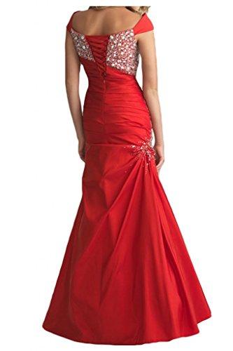 Gorgeous Bride Elegant Breit Traeger Mermaid Taft Kristall Abendkleid Ballkleid Hochzeitskleid Schwarz