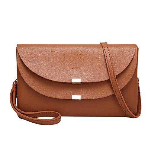 Damenmode Umhängetasche Mini Tasche Messenger Bag Brown