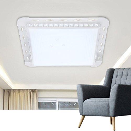 Floureon Plafonnier RGB LED 30-42W 2.4G Lumière de Plafond 29.4inch Éclairage Intelligent avec Télécommande Sans Fil Dimming Infinite 2300LM 180~265V 3000K ~ 6500K Réglable