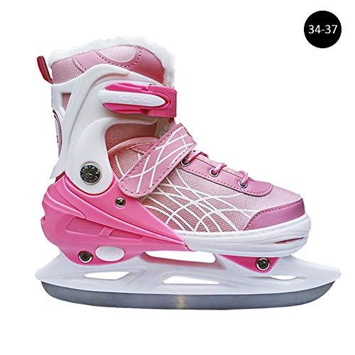 Blue-Yan Schlittschuhe Schuhe Kinder Erwachsene Anfänger einstellbar EIS verdickt Studenten Eisschnelllaufschuhe warme Schlittschuhe