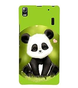 Takkloo cute panda white panda,black panda, green background, closing eye panda) Printed Designer Back Case Cover for Lenovo A7000 :: Lenovo A7000 Plus :: Lenovo K3 Note