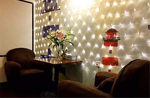 Road&Cool LED-Lichternetz Net Licht Weihnachten Garten Party Star Hochzeitsdekoration Fischernetze Nachtlichter Sternenhimmel Weiß Wasserdichte Festival Im Freien