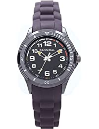 Cannibal Boy's Quartz Watch with Black Dial Analogue Display and Black Silicone Strap CJ219-07