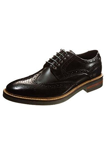 Base London Woburn Hi Shine Black Leather New Mens Formal Brogue Casual Shoes Boots-9