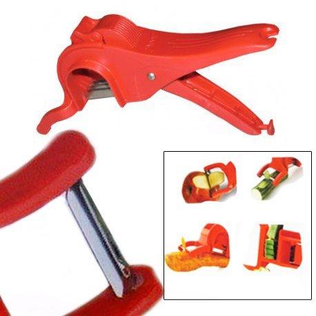 Multi Veg Cutter, Gemüse Gemüse Peeler, Peeler Cutter, Gemüse Cutter Slicer Chopper, rote Farbe Größe 8,5 X 2,5 Zoll