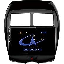 BEIDOUYH CVD12041a 10.2 pulgadas de Android Coche reproductor de DVD de navegación GPS para MITSUBISHI ASX 2013-2016 con Pantalla táctil Bluetooth WiFi Radio Soporte DVR / OBD2/Control de Volante