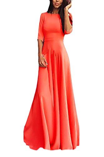 Damen Partykleider Für Hochzeitsgäste Festlich Perfect Pin-up 3/4 Arm Rundhals High Waist Fashion...