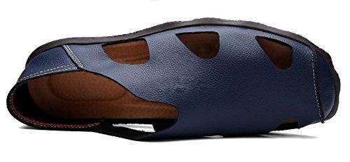 Le scarpe di cuoio pelle nuova estate sandali uomini vuoti sandali uomini di mezza età 3