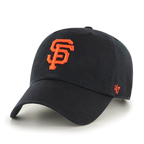 '47 Erwachsene Kappe MLB San Francisco Giants Clean Up, Black, OSFA, B-RGW22GWS-BK