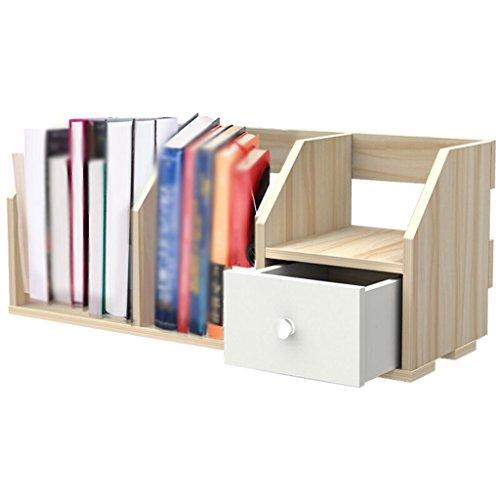 DFHHG® Librería Libro Stand 60 * 22.5 * 25 Cm Almacenamiento Rack Rack de almacenamiento Rack de madera Color durable