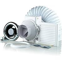 Blauberg UK Kit TT 100–2LED ducha ventilador Extractor Kit de luz LED–cromado