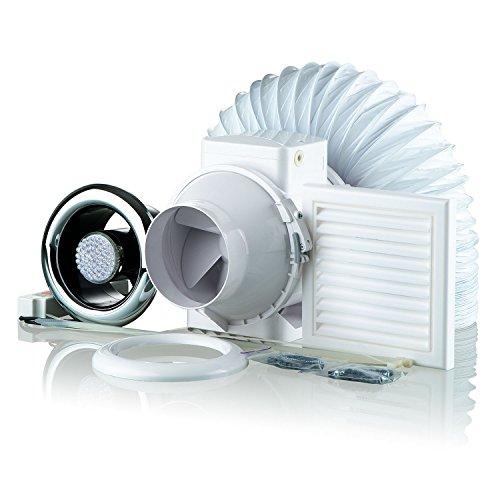 Blauberg UK KIT TT 100-2LED Dusche Abluftventilator LED-Licht Set-Chrom -