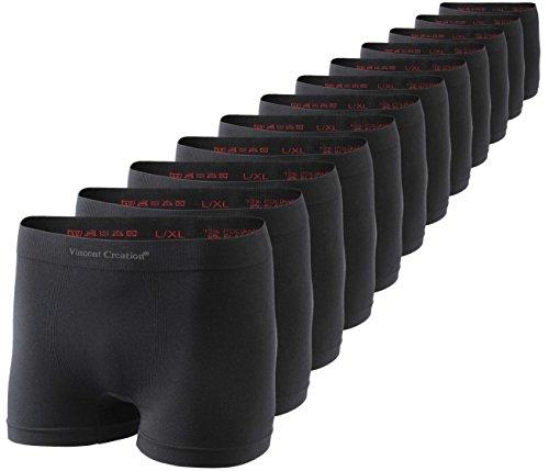 41acl5tg3bL - Vincent Creation 12er Pack Herren Seamless Boxershorts-Pant, Nahtlose Retroshorts, geschmeidig weiche Microfaser