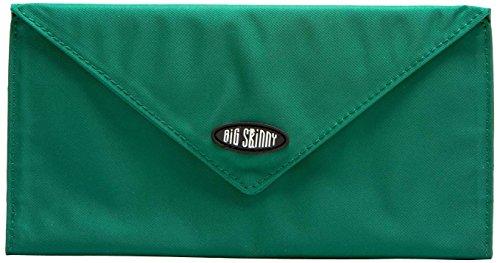 Big Damen Skinny slimvelope Tri-Fold Checkbook Slim Wallet, für bis zu 40Karten, Verdant Green (Tri-fold Coin Wallet)
