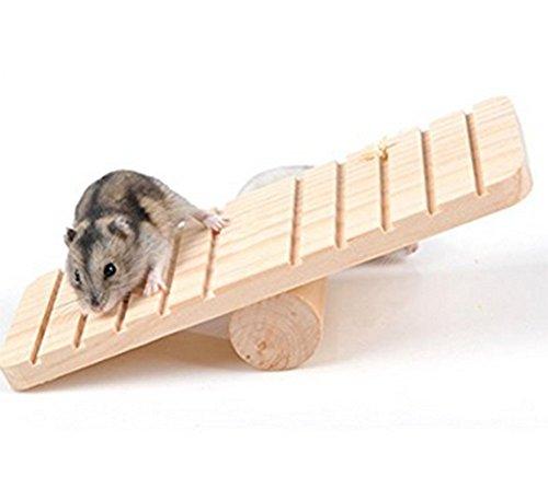 Vi.yo Holzwippe für Hamster Pet Zwerg Gerbil Spielzeug und Zubehör Ratte Maus Chinchillas Eichhörnchen Kleintier Spielhaus Käfig Kauen Spielzeug -