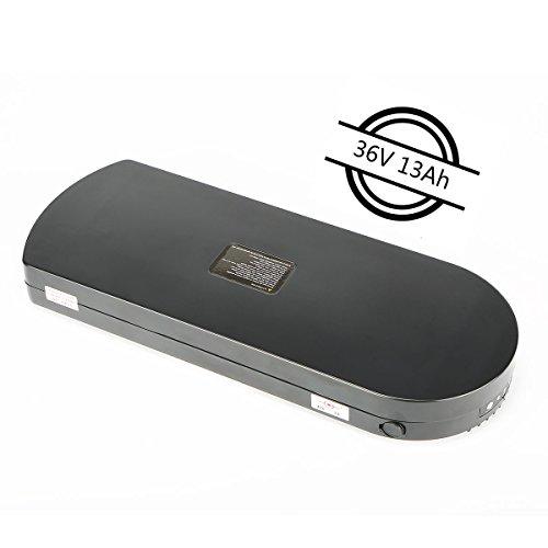 EVERPRO Tianneng Ersatzakku Lithium Ionen 36V 13Ah E-Bike Pedelec Batterien für MiFA Fischer Prophete UVM.(Schwarz)