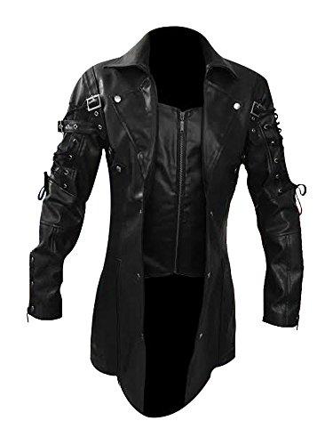 Leather Addicts Herren Jacke, schwarz