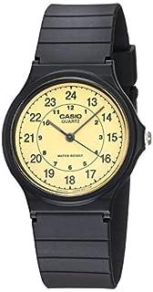 Casio Men's Classic Analog MQ24-9B Black Resin Quartz Watch with Beige Dial (B0001XVUFA) | Amazon price tracker / tracking, Amazon price history charts, Amazon price watches, Amazon price drop alerts