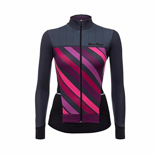 Uglyfrog 2018 Sport im Freien Klassik Vlies Fahrradtrikot Winter Damen Thermo Langarmtrikot Radfahren Jersey Triathlon Bekleidung Schnelltrocknend -