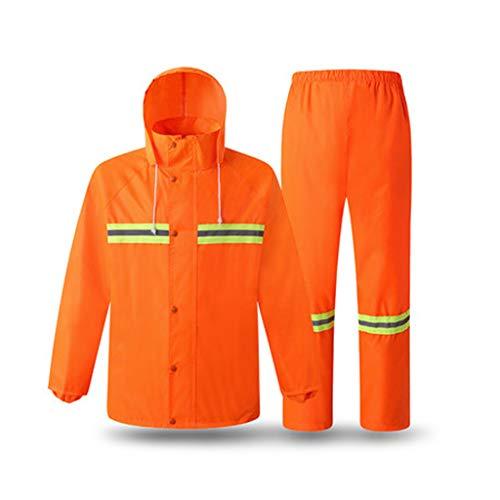 GLJJQMY Reflektierendes Regenmantelgrünes Gebäude Gesundheit Fluoreszierende Regen Ausrüstung wasserdicht Winddicht Arbeitsjacke Reflektierende Westen (Size : XL) (Gesundheit Gebäude)