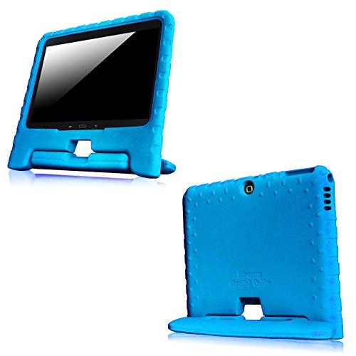 Fintie Samsung Galaxy Tab 4 10.1 Kinder Hülle - Ultra-leichte, stoßfeste und kinderfreundliche EVA Ständer Schutzhülle Tasche Case Cover mit Drehbar Handgriff für Samsung Galaxy Tab 4 10.1 SM-T530 SM-T535 Tablet, Blau