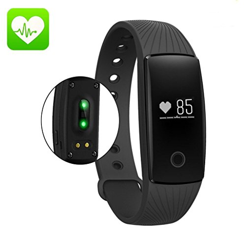 AcFun Smart band ID107 Plus, Orologio da Braccialetto Fitness Tracker Polso Wristband Smart Watch Smartwatch Smartband Smart Band Fitness Band Bluetooth Activity Tracker. Misurazione frequenza cardiaca, Conta Passi, Consumo Calorie, Misurazione distanza percorsa, Impermeabili per IOS Android