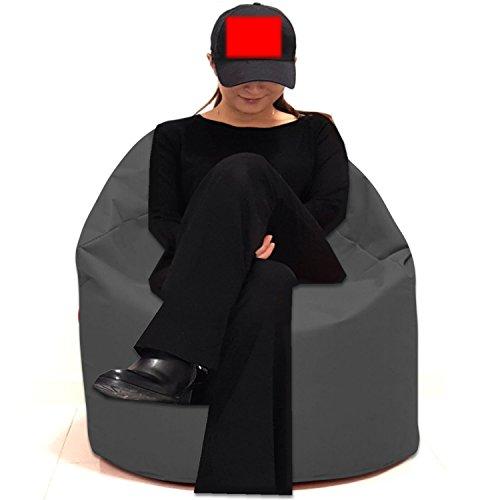 Sitzbag Sitzsack Größe S-M-L-XL-XXL-XXXL mit Styropor Füllung - In & Outdoor Größen - Bean Bag Sitzkissen Bodenkissen Hocker Kinder Sitzsäcke Möbel Kissen Sessel Sofa (XXL - ca.78cm, Anthrazit)